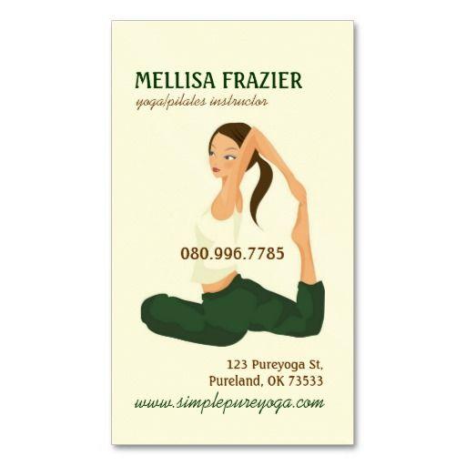 Yoga Pilates Meditation Business/Instructor Business Card Templates