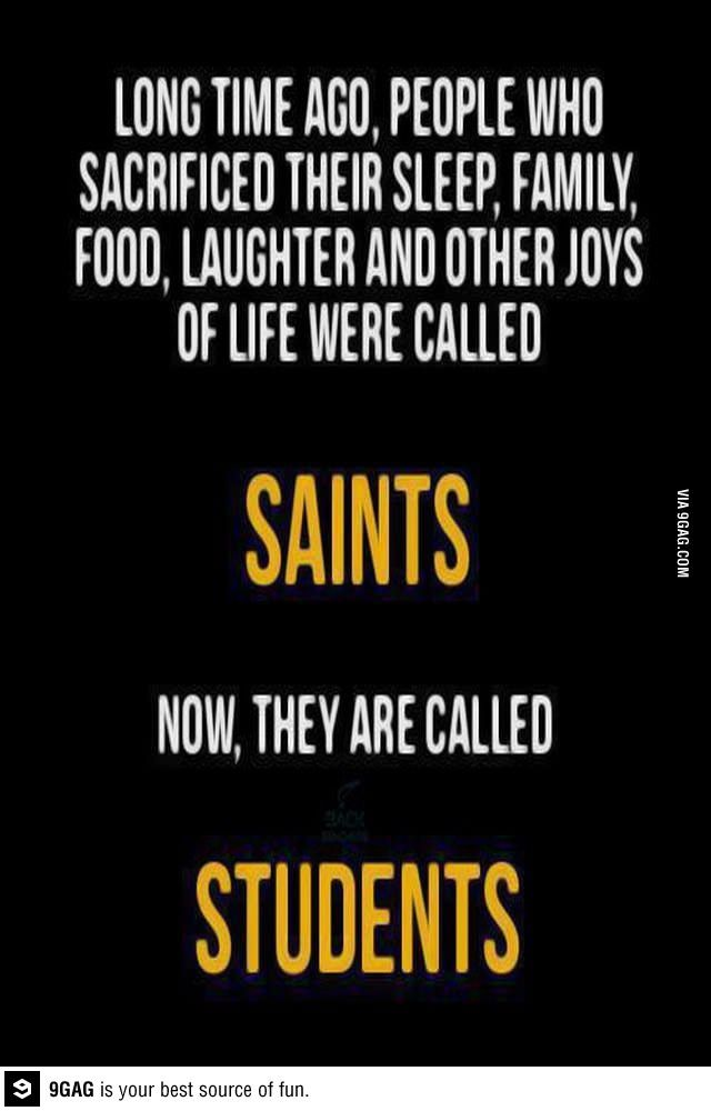 Saints are now students - Funny