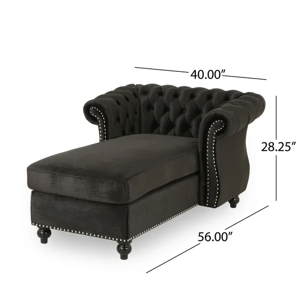 Lancelot Modern Glam Velvet Chesterfield Chaise Lounge By Christopher Knight Home In 2020 Furniture Living Room Chairs Cozy House