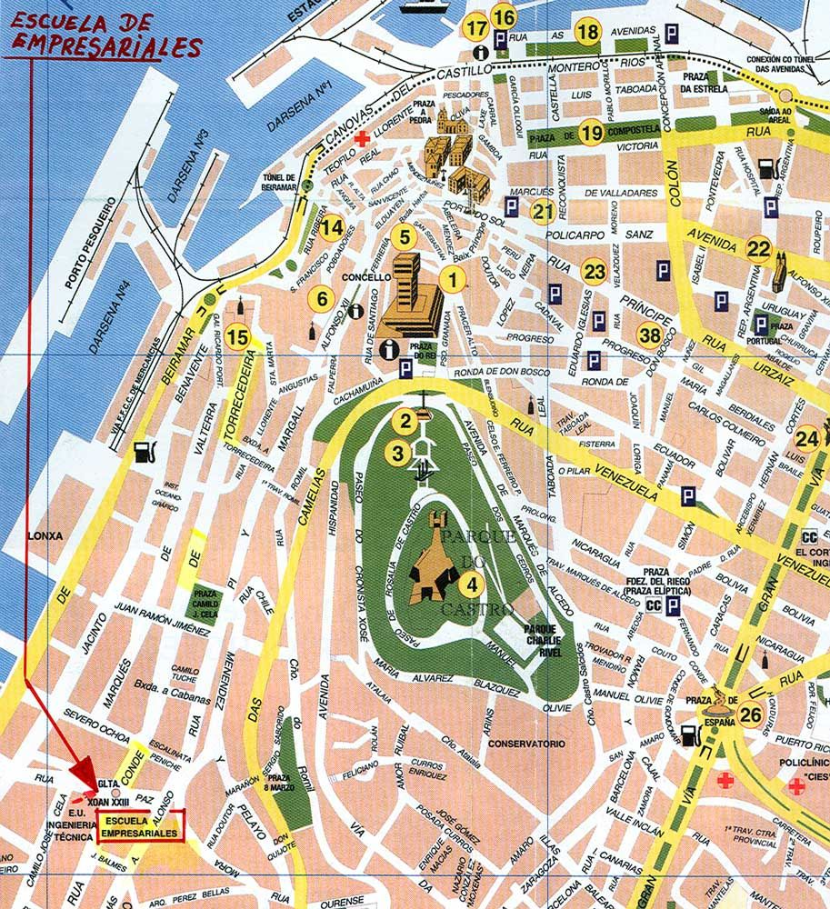 vigo mapa Buscar con Google Mapa Vigo Pinterest Searching