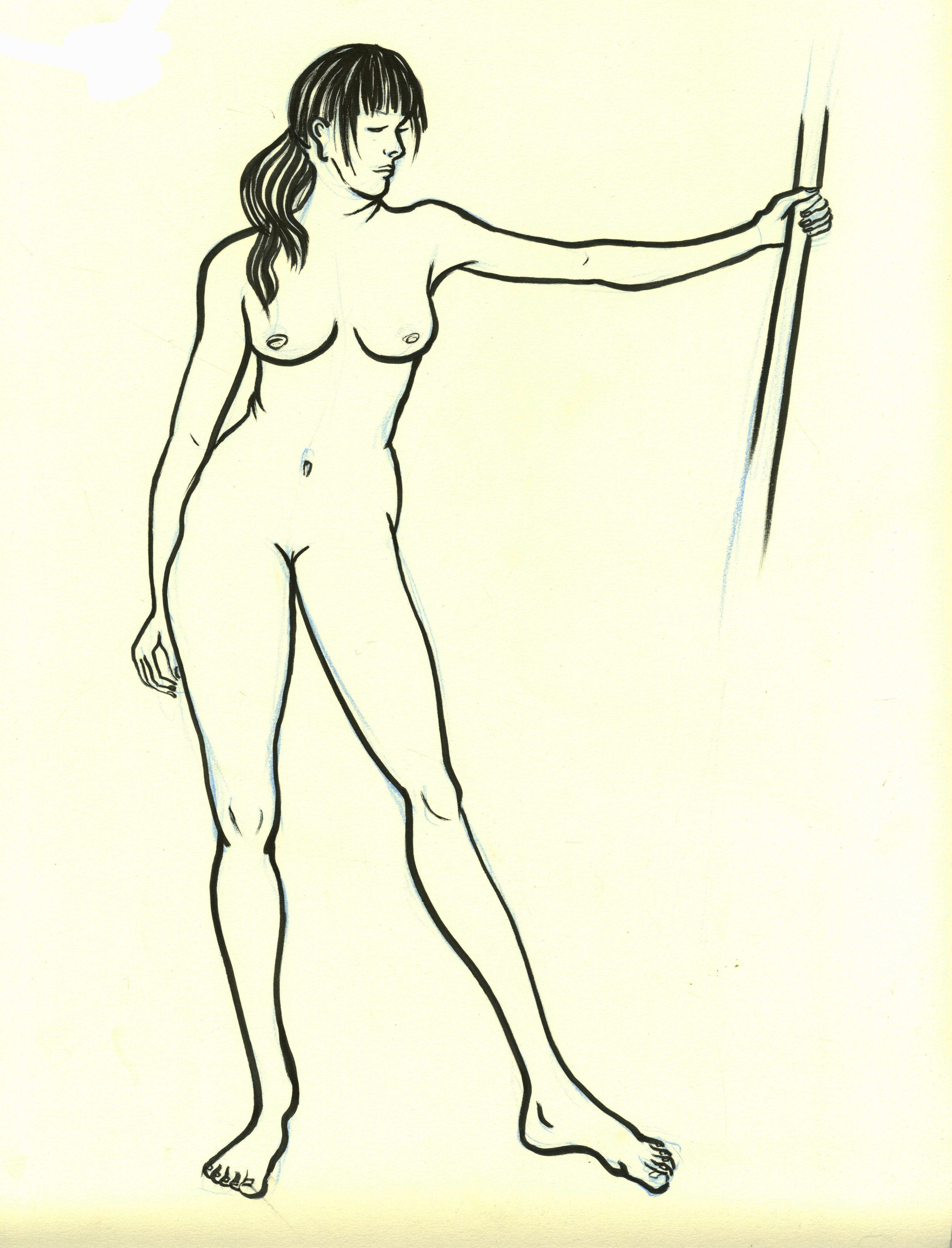 Line Drawing Nude 65