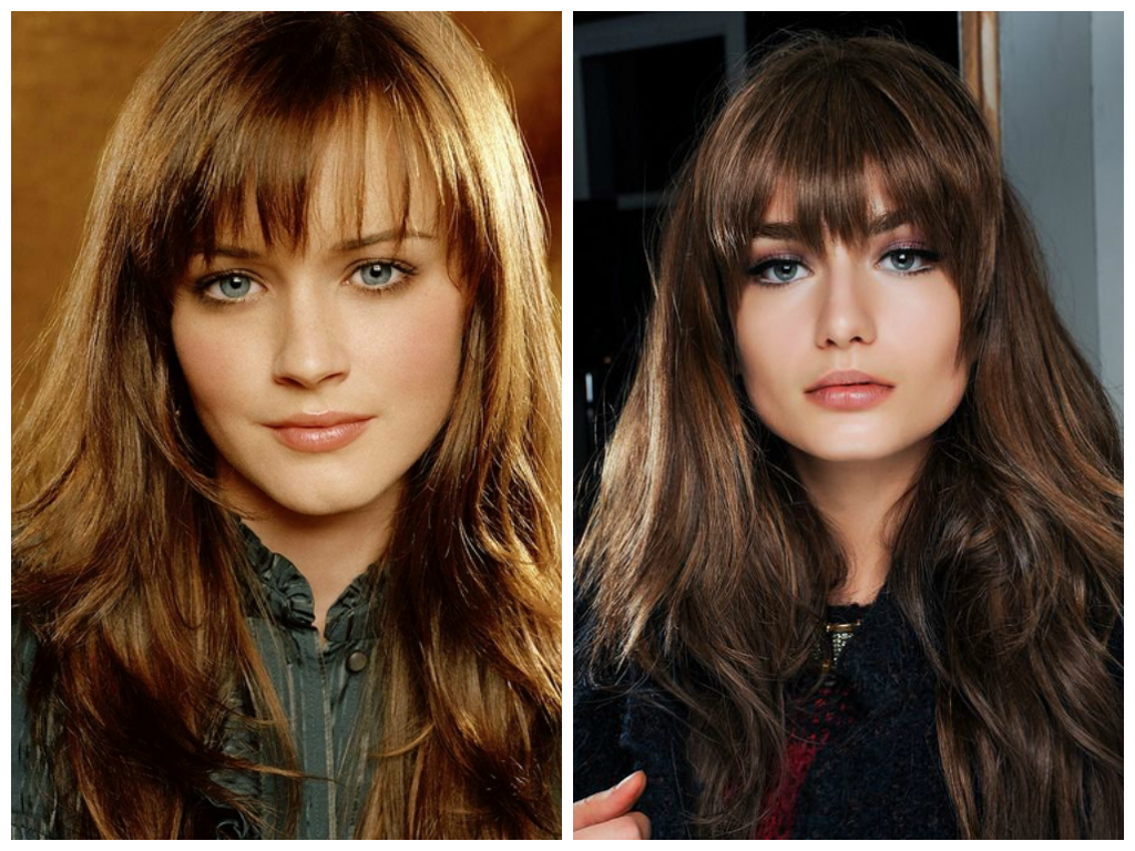 Different Long Fringes For Long Hair Women Hairstyles Long Fringe Hairstyles Womens Hairstyles Hair Styles