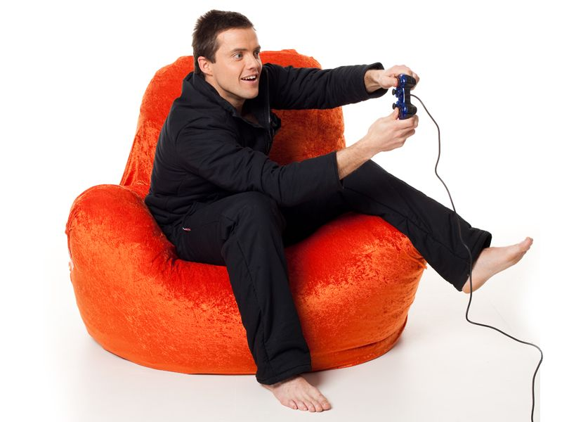 Black duvet suit for long gaming sessions. www..lazypatch.com