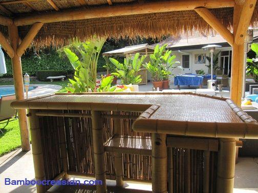 unique outdoor bar ideas custom built bamboo bar stools
