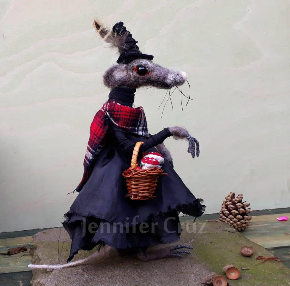Witch art doll, Halloween gift, ooak doll, strange artists doll ...
