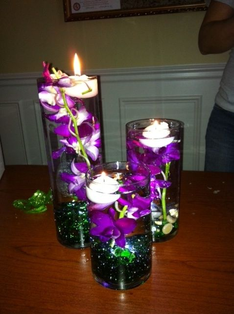 teal rocks fuchsia flowers floating candle fairyland pinterest