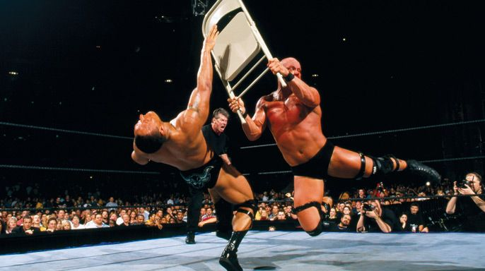 Stone Cold Steve Austin Sells His Soul To Vince Mcmahon In Order To Beat The Rock For The Wwe Championship Wrestlemania X Seven Wrestlemania Wwe Fighting Wwe