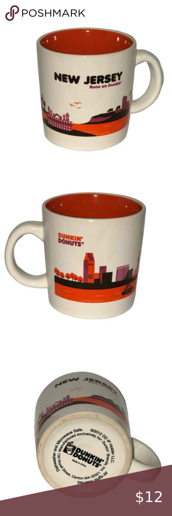 New Jersey DUNKIN DONUTS Coffee Cup New Jersey DUNKIN