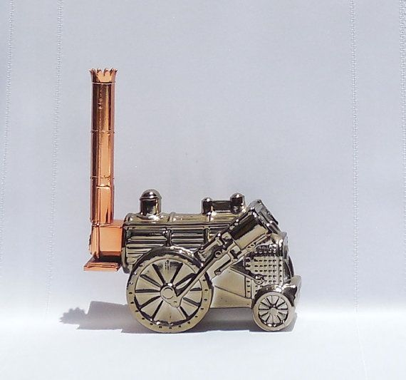Avon Golden Rocket Locomotive Decanter by TickleBugTreasures on Etsy $10.00