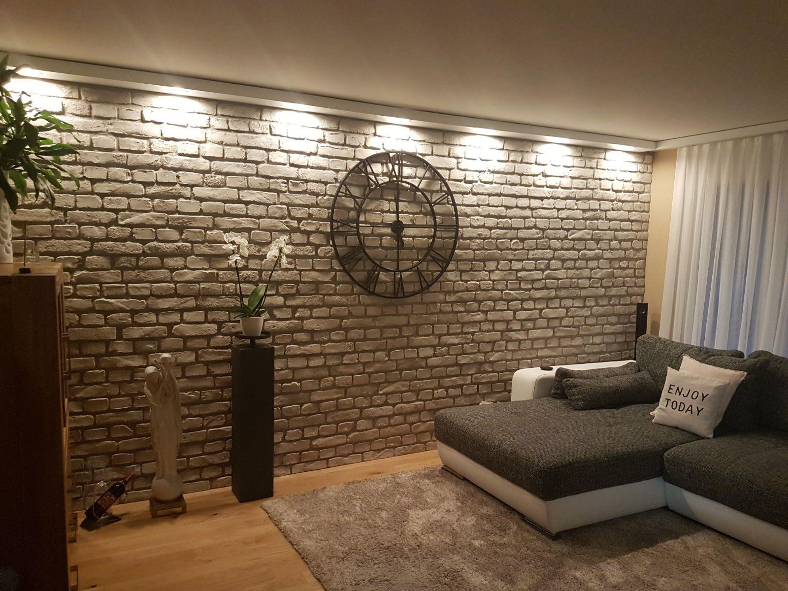 Steintapete wohnzimmer ~ Pin by hallo on wohnzimmer pinterest wand