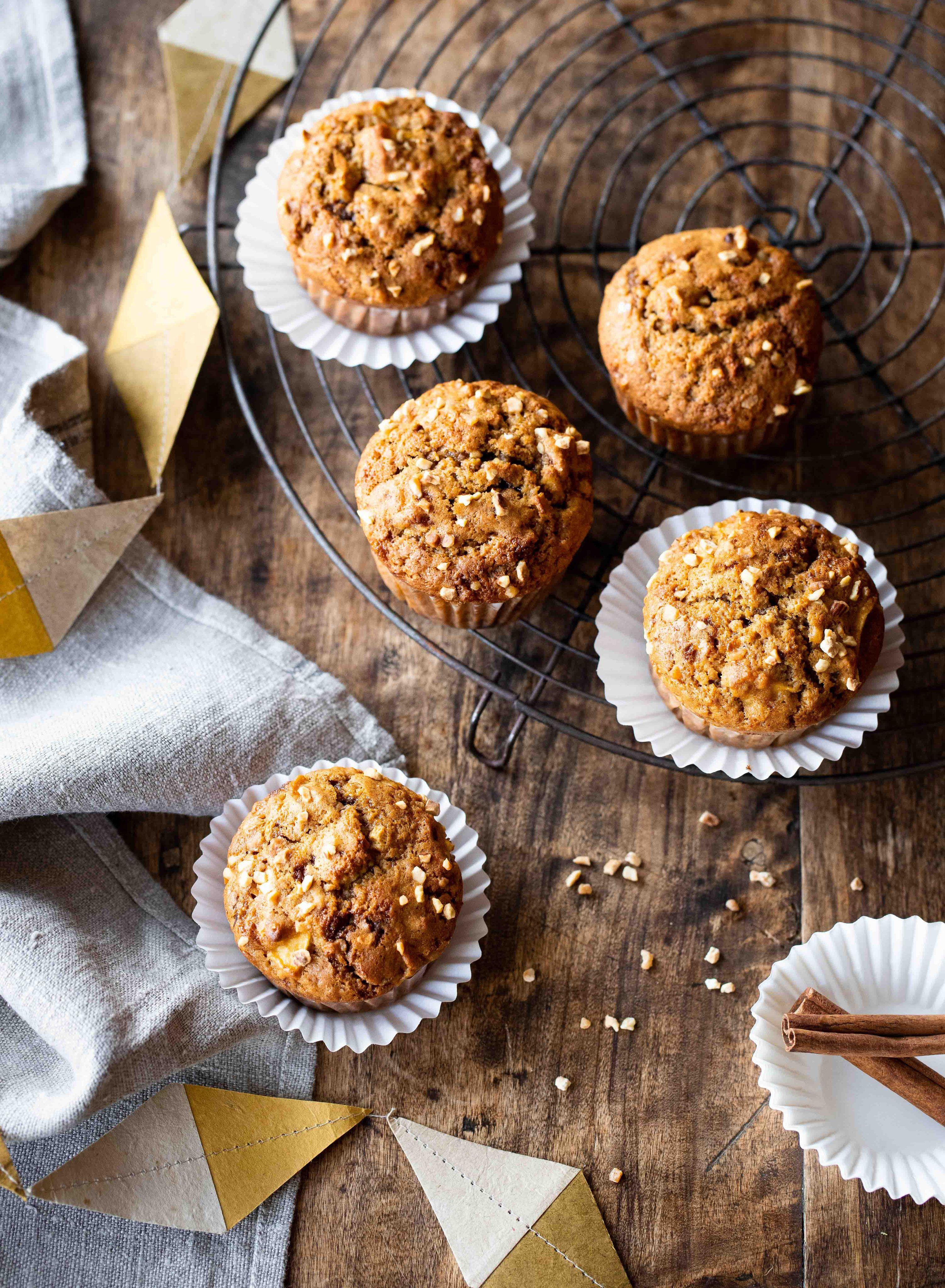 Muffins aux pommes, nougatine & cannelle #dessertfacileetrapide