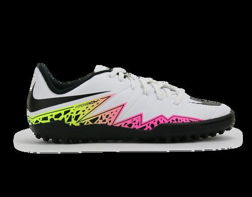 premium selection ec599 31a90 Nike Kids Hypervenom Phelon Turf Soccer Shoes White Black Total Orange