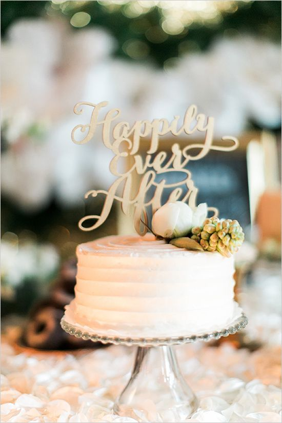 happily ever after cake topper @weddingchicks