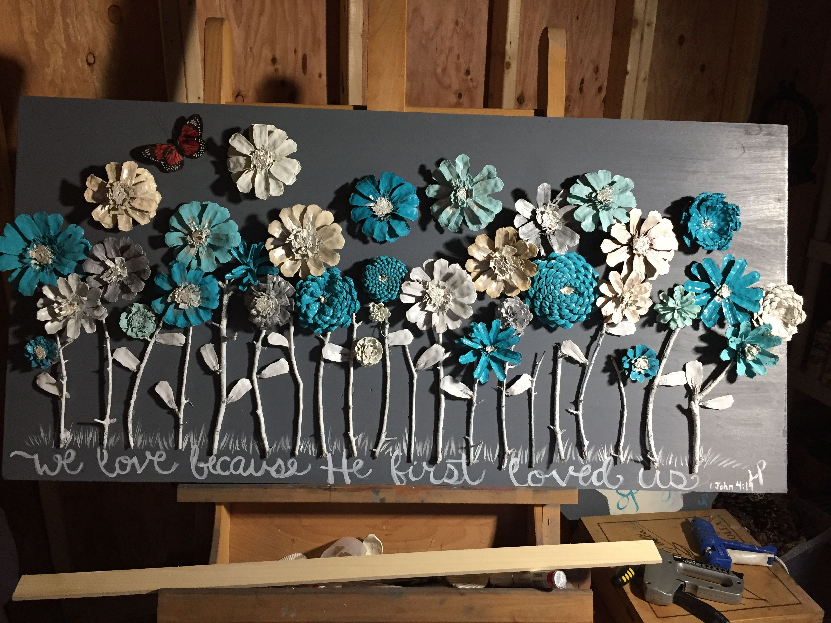 pinecone decor by linda p linda 39 s creations pinecone crafts kids crafts pine cone decorations. Black Bedroom Furniture Sets. Home Design Ideas