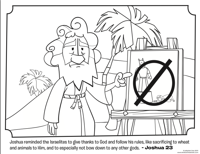 Download This Free Joshua Coloring Page That Shows Warning