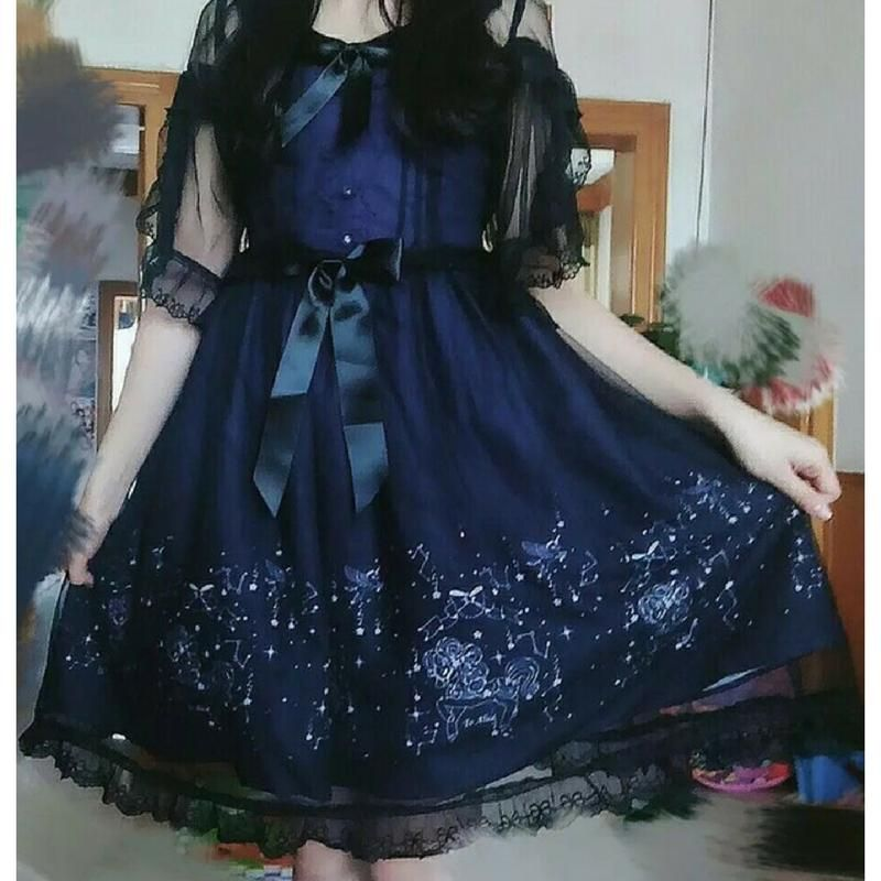 Lacy Starry Night Constellation Dress SP1711463