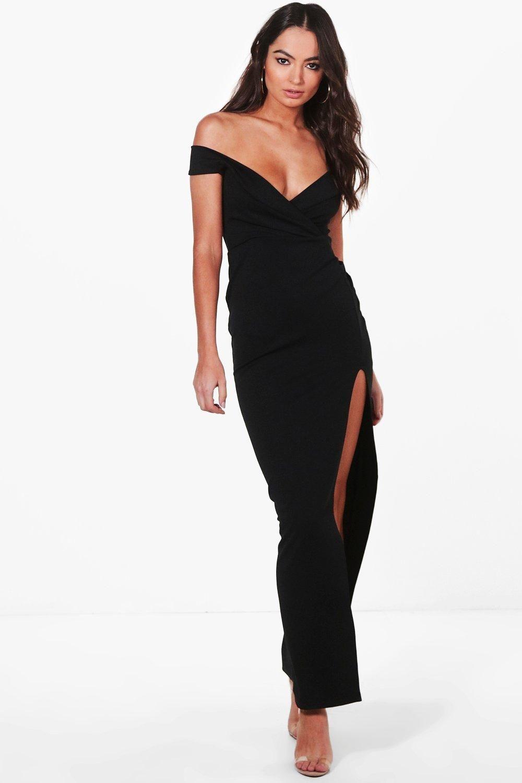 c546a612d7 Kady Wrap Top Bardot Maxi Dress