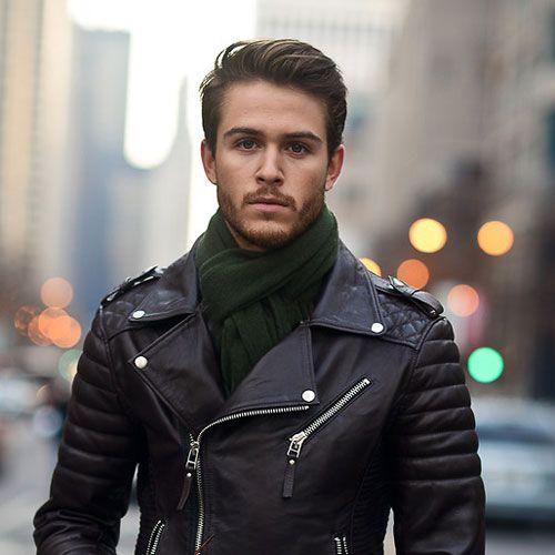 27 Hipster Haarschnitte | Lammfell lederjacke, Männliche