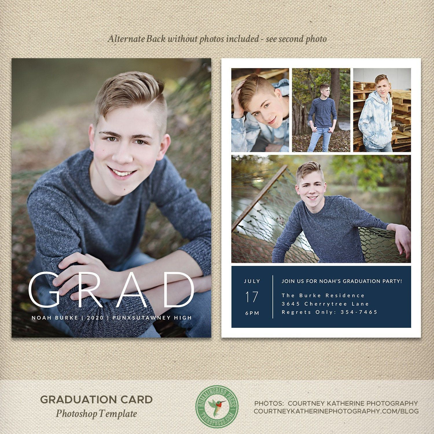 High School Graduation Announcements 2020.Senior Graduation Announcement Template High School