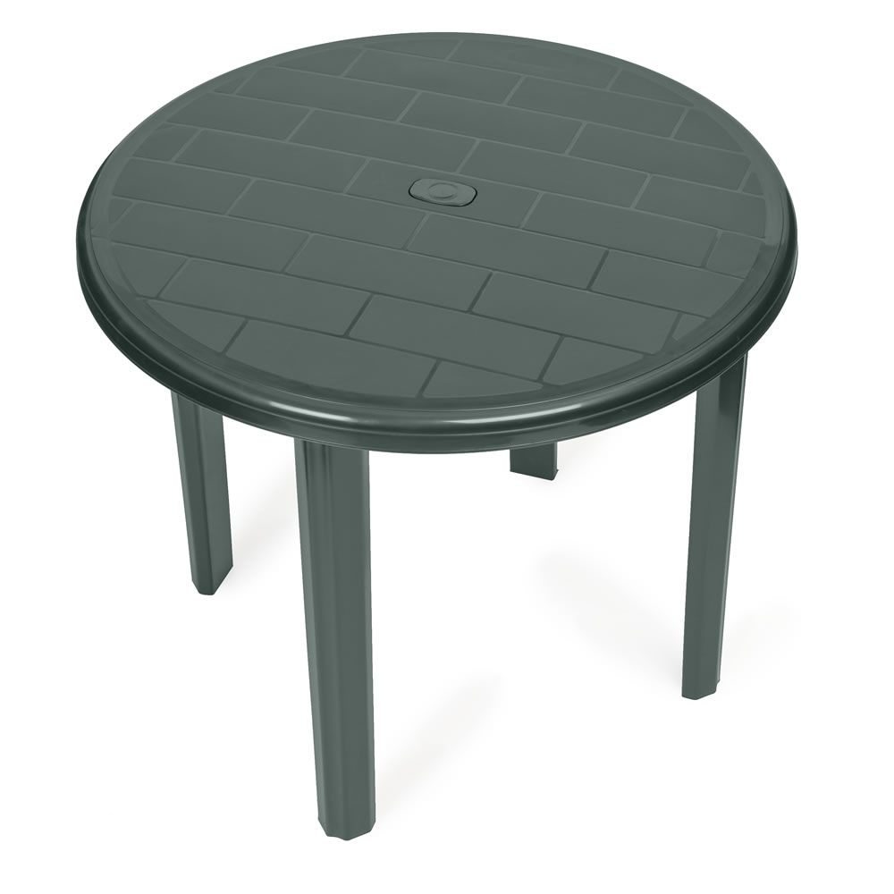 Wilko Plastic Table Round Patio Table Metal Outdoor Furniture