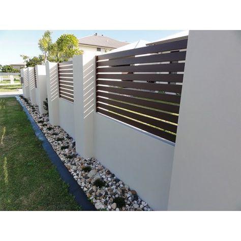 Arden Gates Ardenwood Aluminium Wood Effect Fencing 3 House Fence Design Fence Design Modern Fence Design