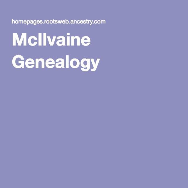 McIlvaine Genealogy