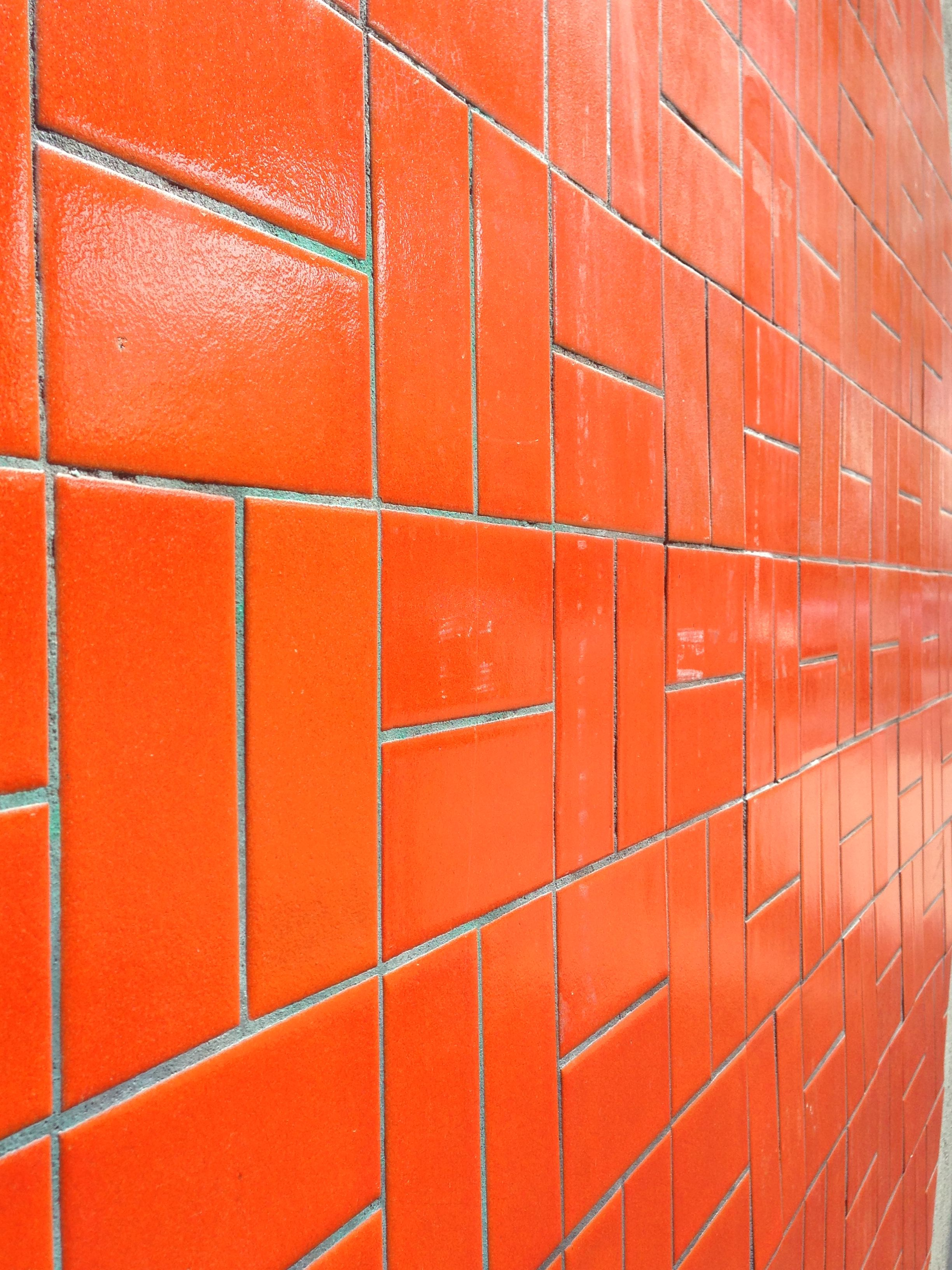 E Up Your Kitchen Or Bathroom With A Nice Orange Tile