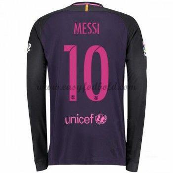 Fodboldtrøjer La Liga Barcelona 2016-17 Messi 10 Udebanetrøje Langærmede