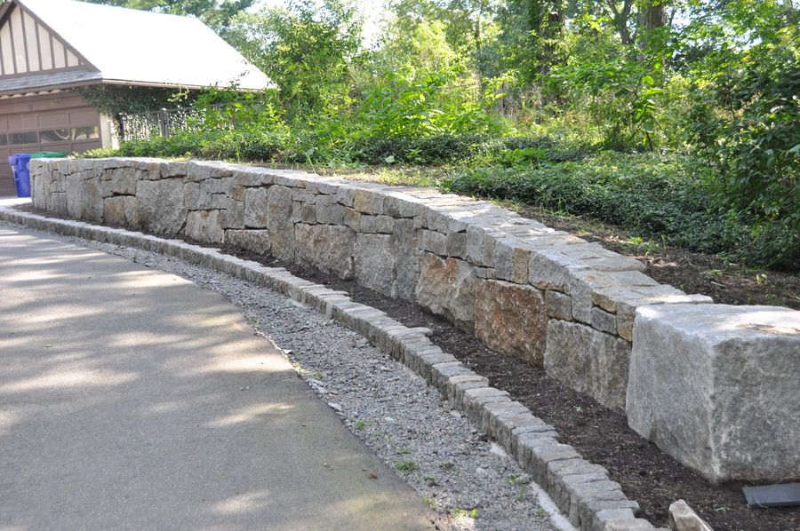 Building A Reclaimed Stone Wall Stone Retaining Wall Natural