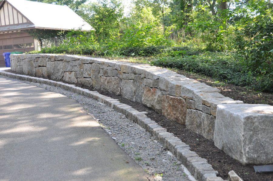 Elberton Granite Rubble Retaining Wall Patio Elberton Patio Garden