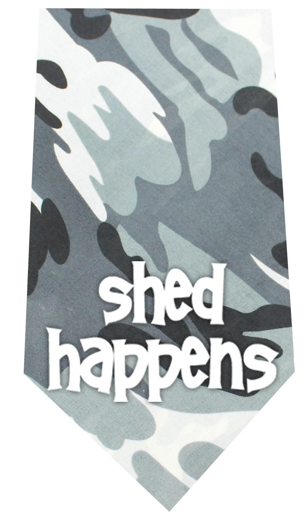 Shed Happens Screen Print Bandana Grey Camo