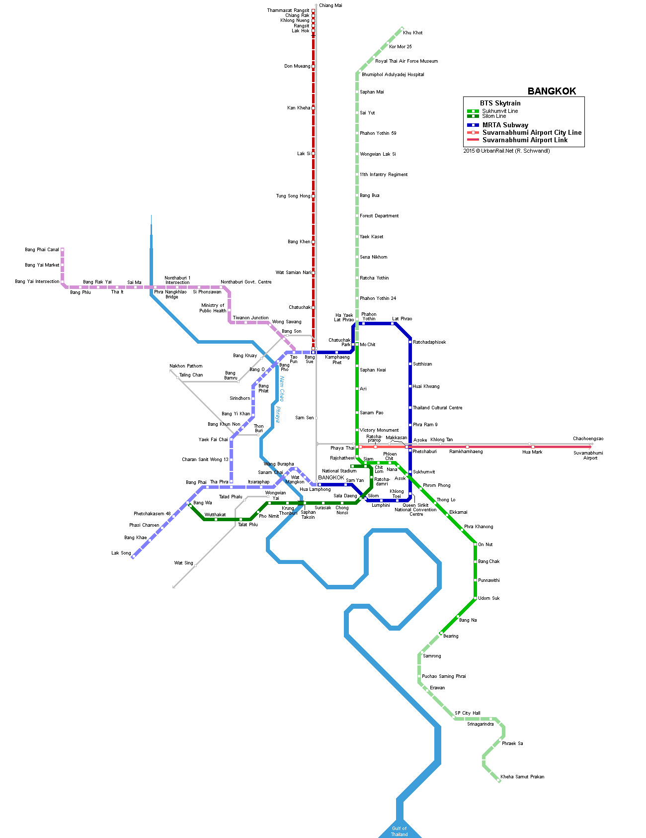 BTS Skytrain Bangkok Lines Map OAT SEAsia trip Pinterest Bangkok