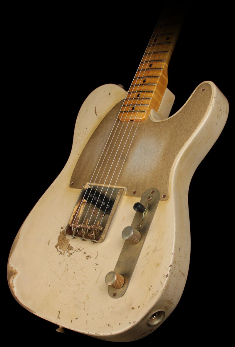 White Relic Fender Esquire. Not a Telecaster, (single pick