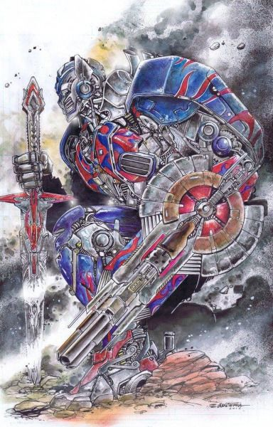 redskullsmadhouse:Optimus Prime Colored Commission by The Art of Emil Cabaltierra