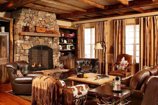 Cabin style room decor
