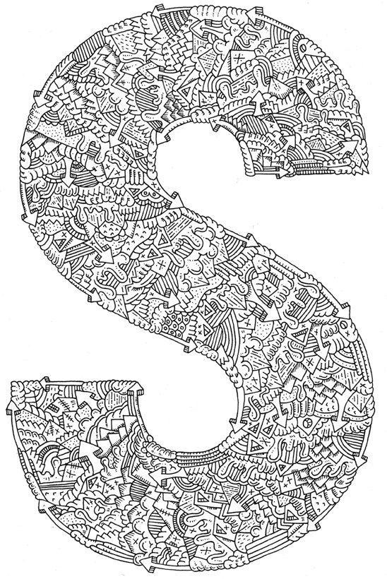 Letter Doodle - love it! | Doodles | Pinterest | Buchstaben ...