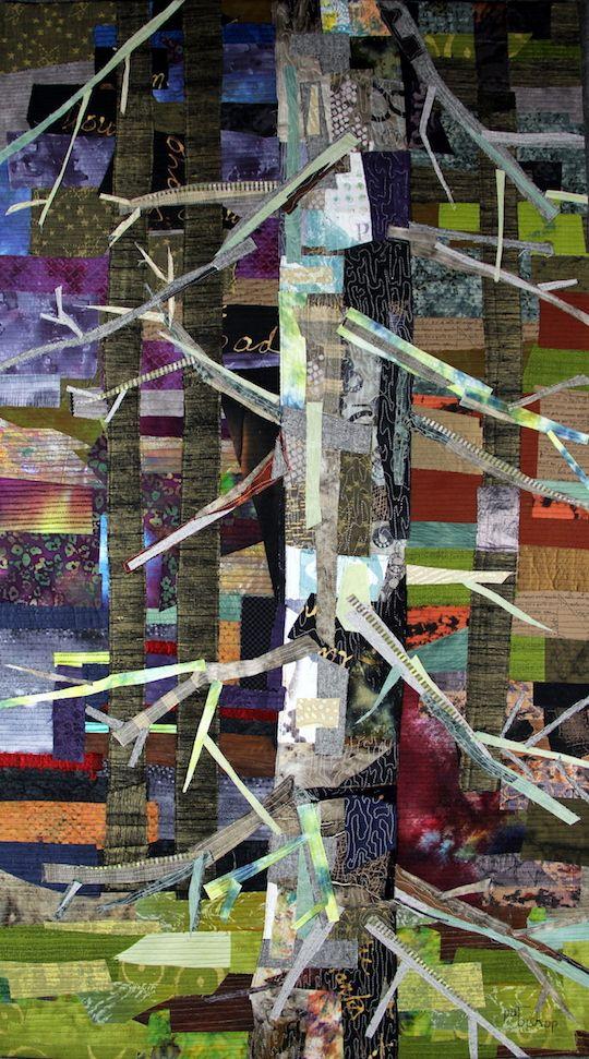 Pat Bishop: Lichen on Pine, 48H x 30W