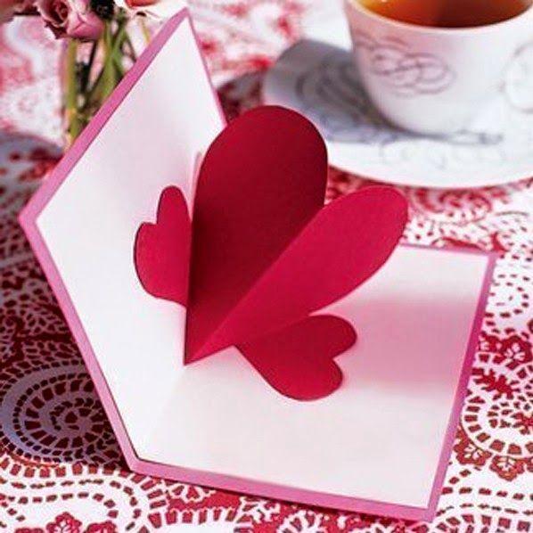 Tarjeta Con Corazón 3d Para San Valentín Lodijoella Día