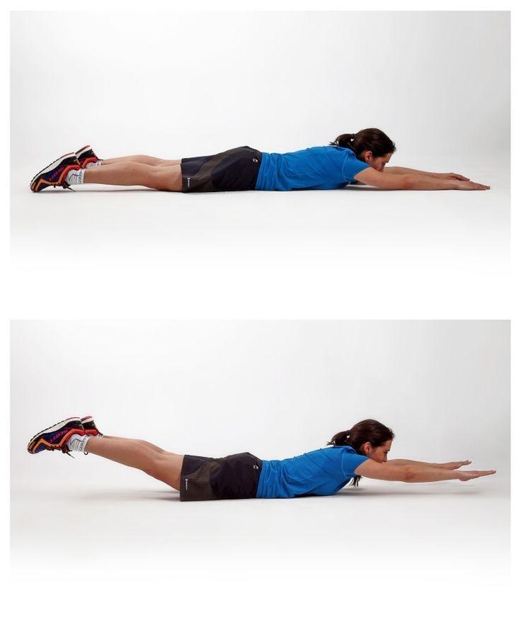 Supermanes ejercicio para fortalecer espalda baja | Ejercicio ...