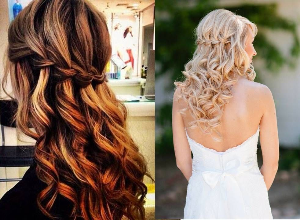 Waterfall braid! Read the blog for more inspirations: #hair #makeup #inspirations #ideas #hairdo #hairstyle #updo #sangeet #indian #wedding #braids #wedzo #bride #essentials #mua #hairstylist #shaadi