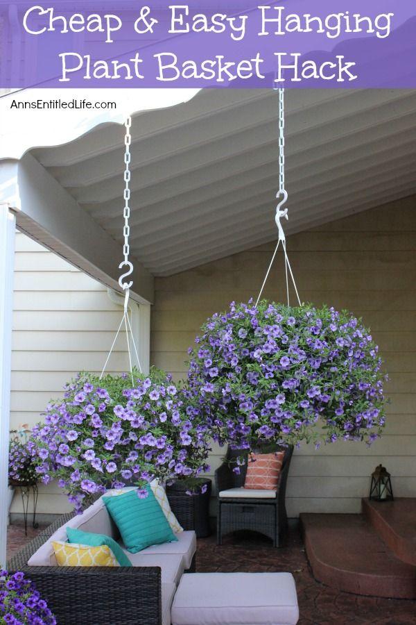 Hanging Plant Basket, Outdoor Hanging Baskets For Plants
