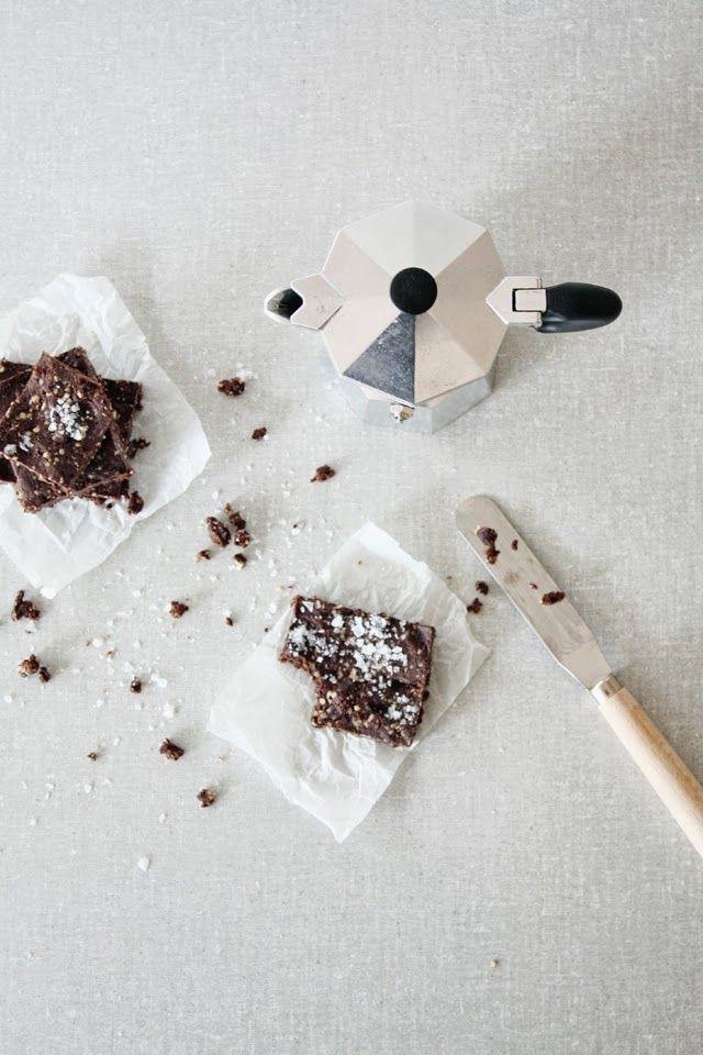 raw brownies with seasalt