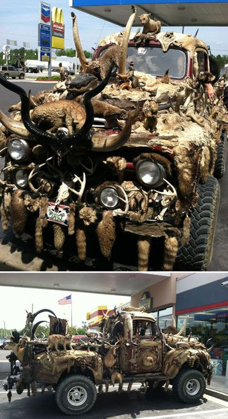 Taxidermy Truck Crazy Pinterest Animal Animal Cruelty And