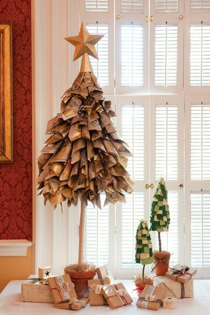 Weihnachtsbasteln mit papier weihnachtsbaum basteln weihnachtsbaum pinterest - Pinterest weihnachtsbasteln ...