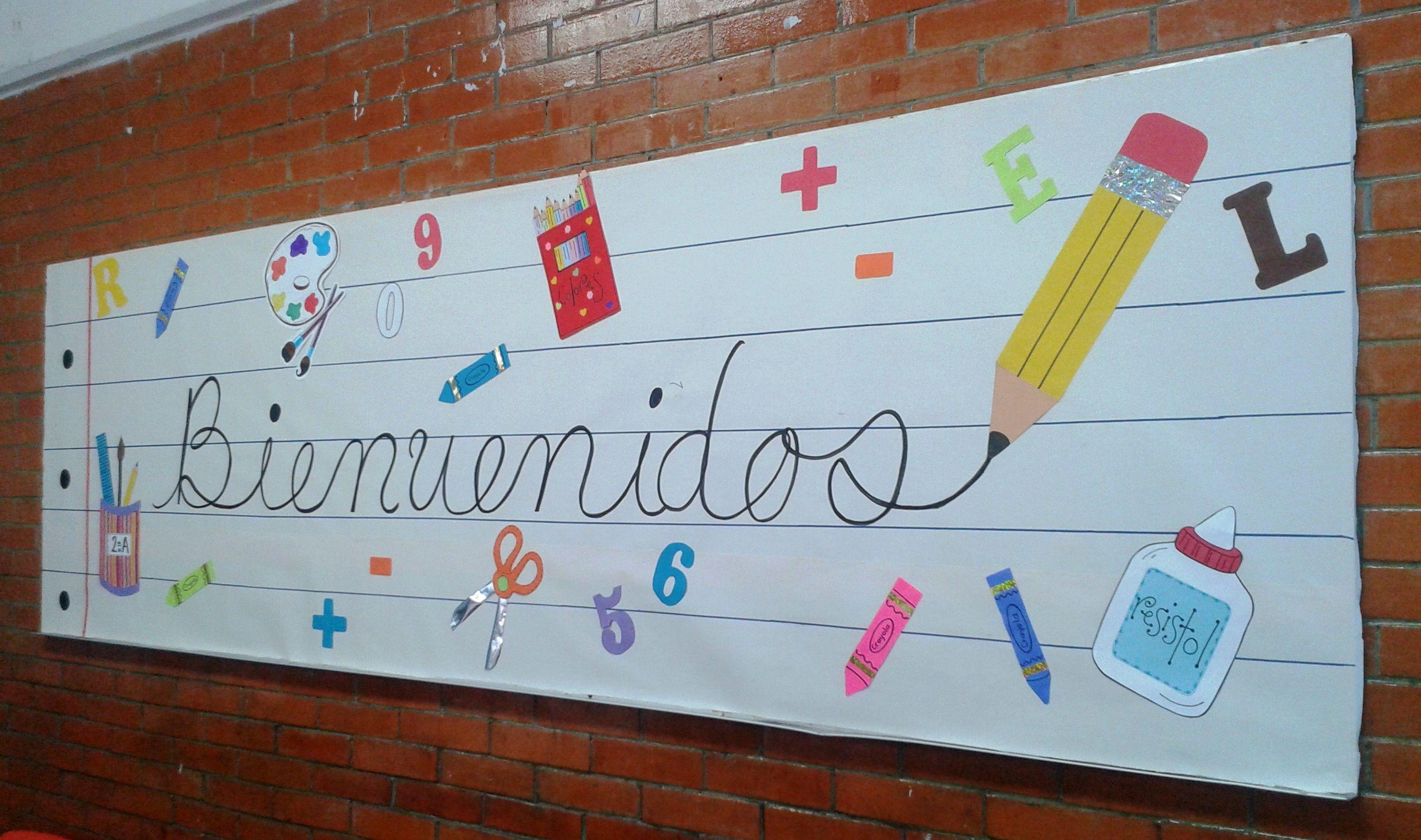 Periodico mural regreso a clases cole pinterest for Puertas decoradas para regreso a clases