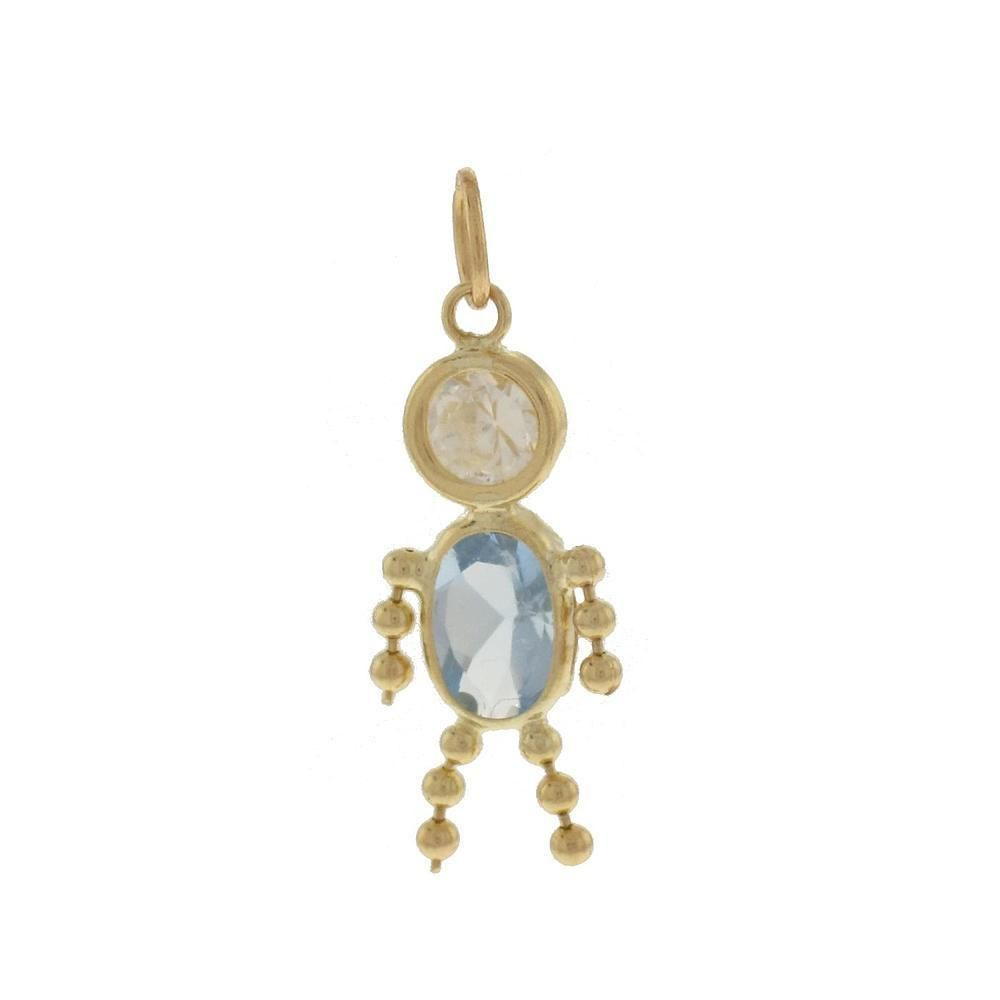 Birthstone Babies 10K March Boy Pendant #Pendant