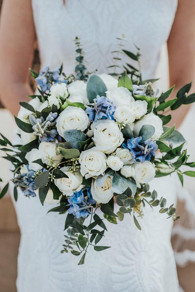40 Chic Blue Wedding Bouquet Ideas Blue Wedding Flowers Blue Wedding Bouquet Bridal Bouquet Blue