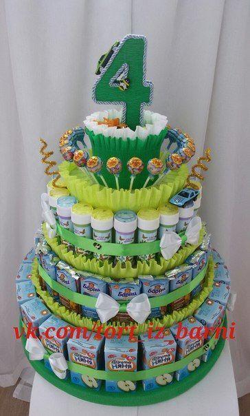Photo of Kuchen von Kinder, Süßigkeiten, Säfte, Barney. Mosk … #barne