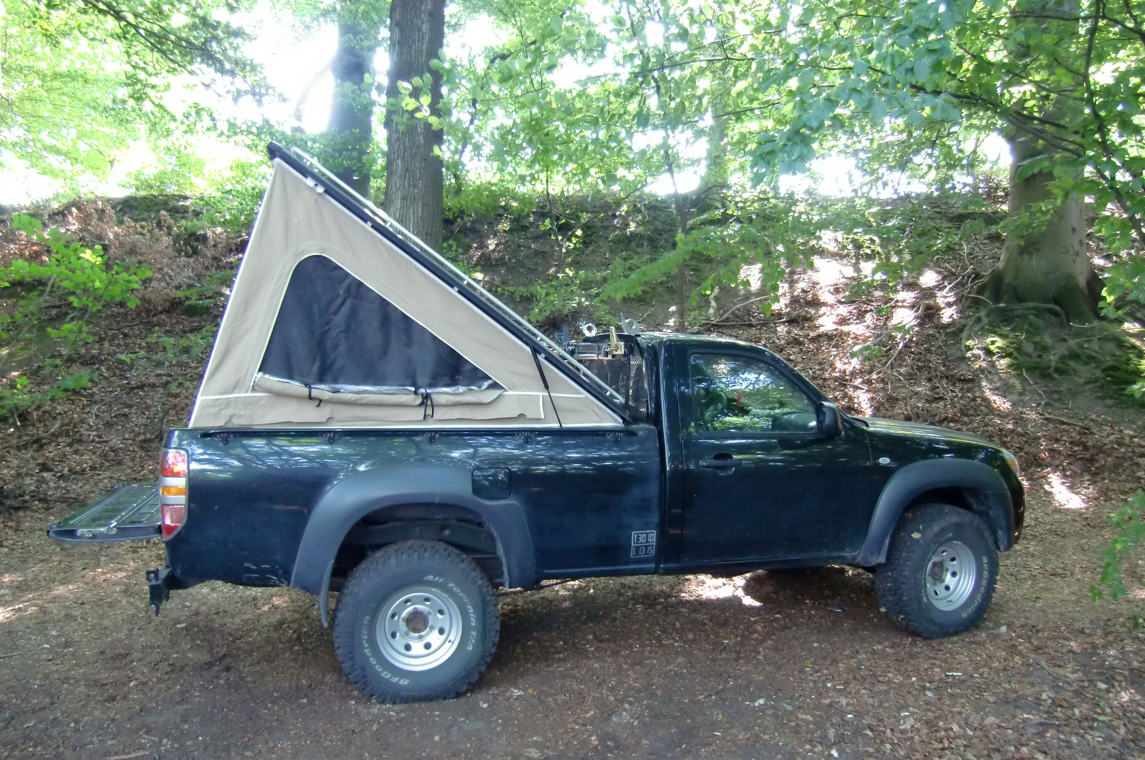 Overland Pickup Pickup camping, Truck tent, Truck bed