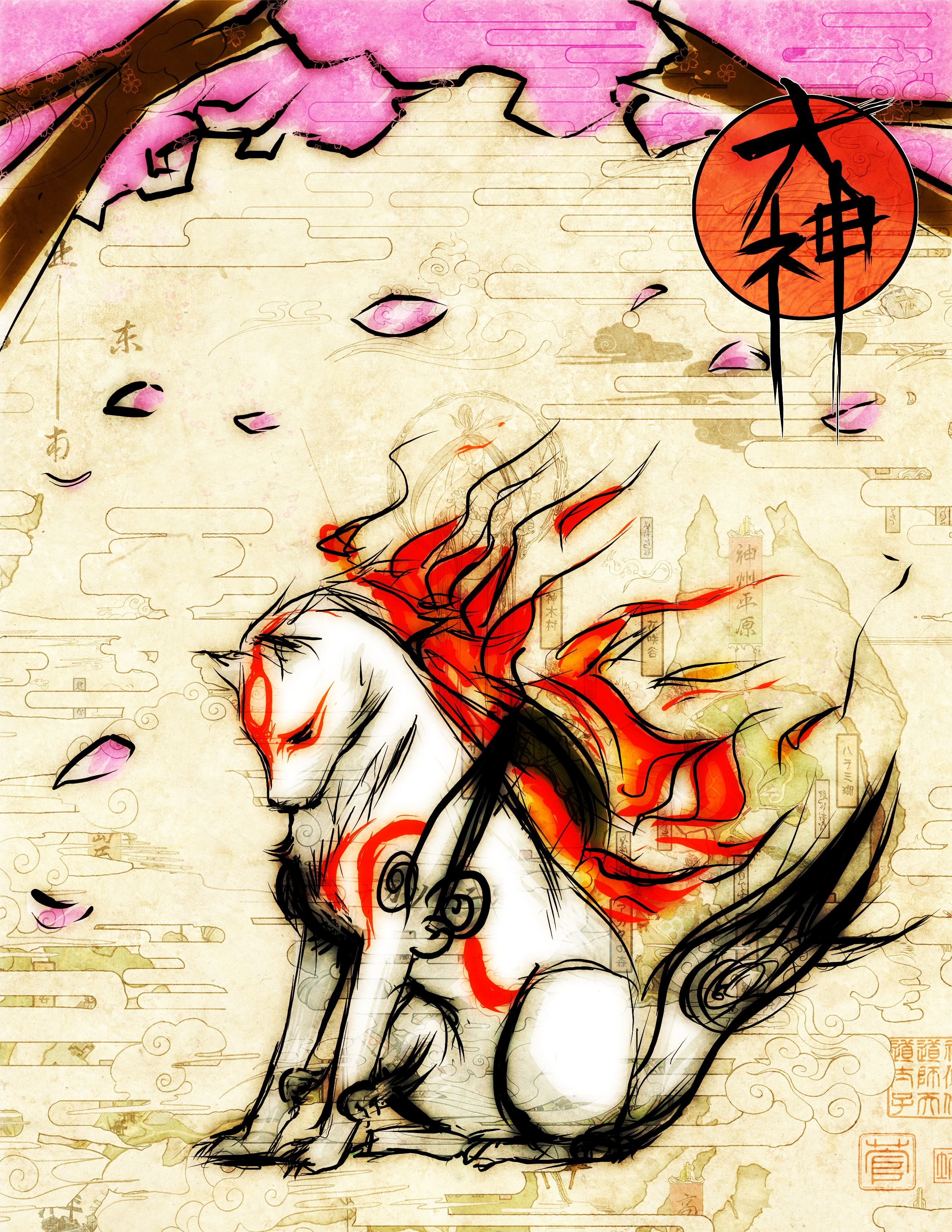 Okami The Nerd In Me Loves This Game So Much Okami Amaterasu Art